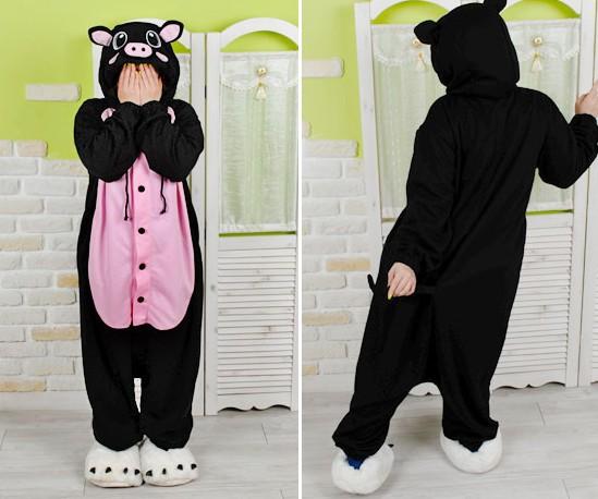 2015 Adults Pajamas, Pig Pajamas Onesie Suits ,Cosplay Adult Winter Garment ,Cute Cartoon Animal Onesies Pajama Sets(China (Mainland))