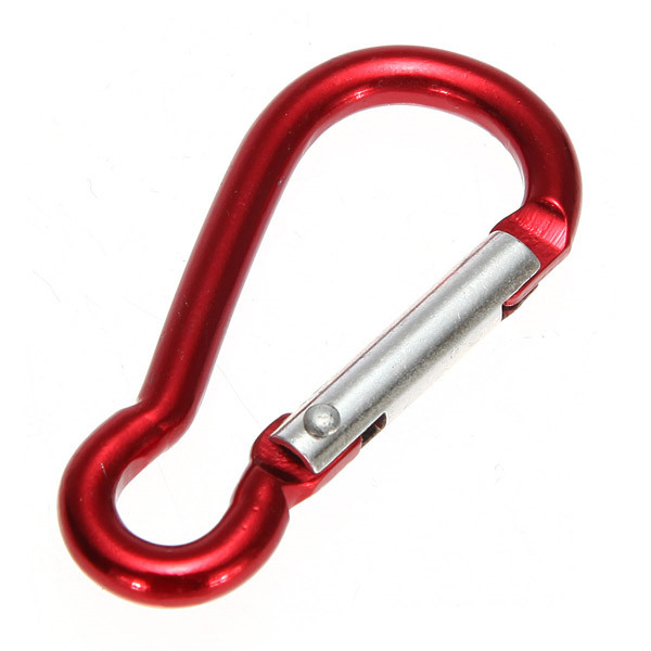 10 Pcs/Lot Metal Aluminum Climbing Carabiner Hook Clip Snap Key Ring <font><b>Camping</b></font> Sport Karabiner Keychain <font><b>Camping</b></font> Accessory