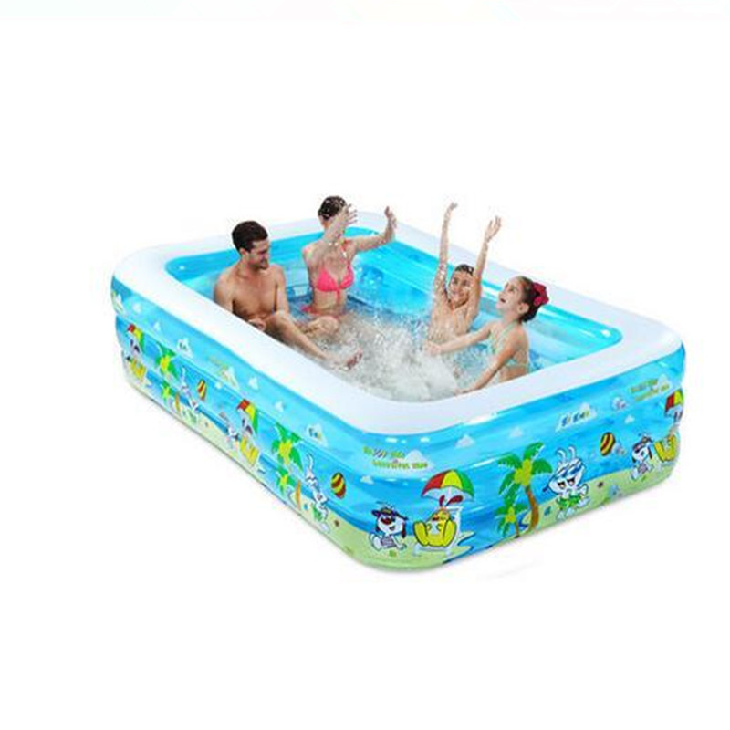 Cheap Large Family Tricyclic Inflatable Pool Summer Water Swimming Play Inflatable Swimming Pool Adult Bathtub Sky Blue(China (Mainland))