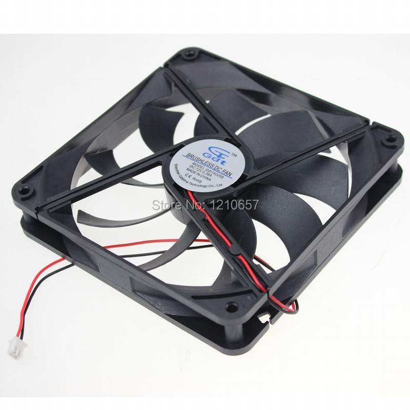 1Pieces GDT DC 12v 2Pin 140MM x 25mm Brushless PC Computer Cooling Fan(China (Mainland))