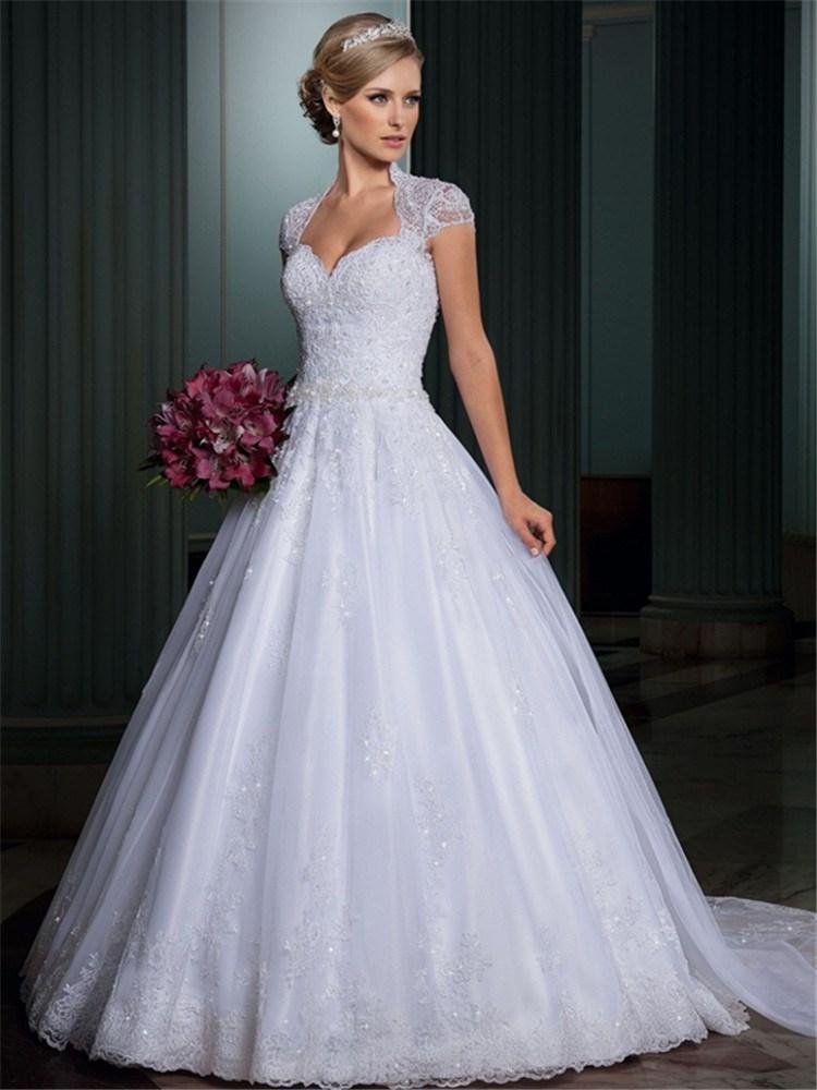 Vintage ball gown wedding dress white organza and tulle for Tulle and organza wedding dresses