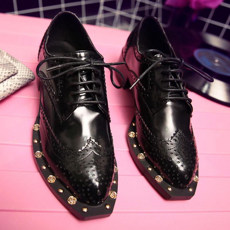 2016 Women Flats Fashion Designer Shoes Spring Oxford ...