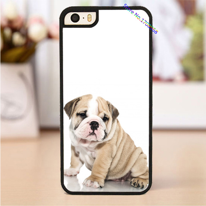 British Bulldog puppy fashion housing cover case for iphone 4 4s 5 5s 5c 6 & 6 plus case *1795(China (Mainland))