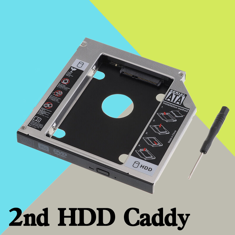 New 2nd Hard Drive Hdd Caddy Adapter Fujitsu Lifebook Th700 S710 S7220 S751 T5010 12.7MM()