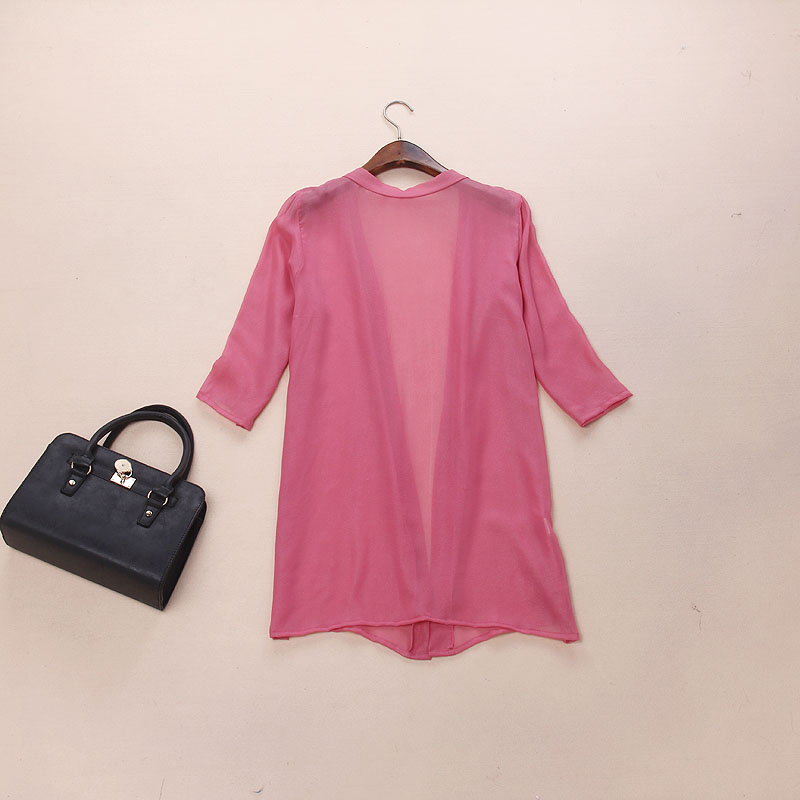new 100% silk female shirts women pure silk dress long windbreaker sun proof clothing pure color long sleeved cardigan-b198(China (Mainland))