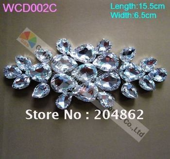 Free Express shipping 12pcs/lot, Wedding & evening dress crystal rhinestone jewelry accessories in Sliver Setting