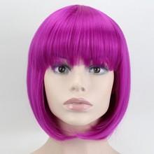 JOY & BEAUTY 9 цветов красный розовый белый короткий кудрявый боб синтетический парик для студенческой вечеринки для женщин Термостойкое волокн...(China)