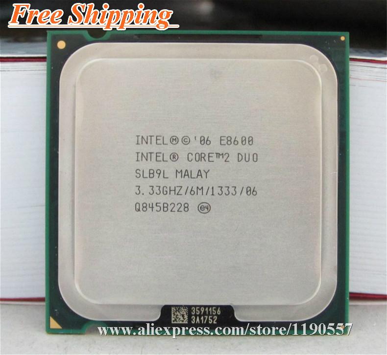 Original E8600,INTEL CORE 2 DUO E8600 Processor (3.33GHz/ 6M /DUAL-CORE/FSB 1333MHz) Desktop LGA 775 CPU(China (Mainland))