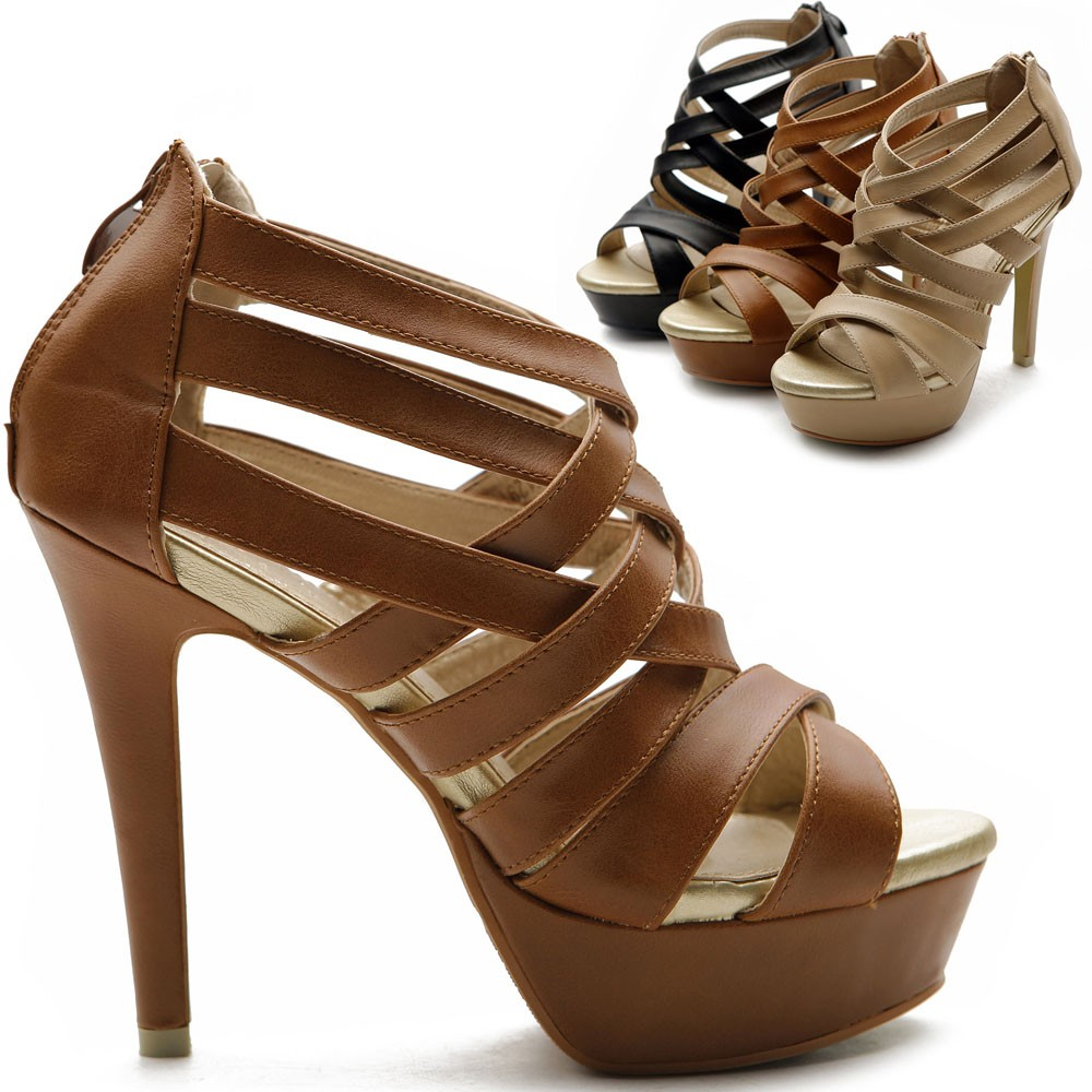 Black And Brown Heels - Is Heel