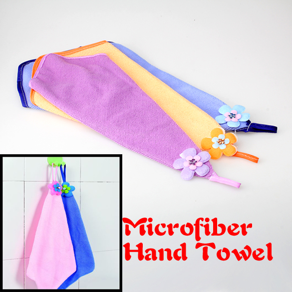 Soft Universal Microfiber Fiber Kitchen House Cleaning Washable Hand Towel Easy Dry Dishcloth Tool(China (Mainland))