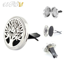 Buy 38mm Stainless Steel Tree Life Magnetic Interior Car Diffuser Locket Aroma Accessories Car (free felt pads) for $5.90 in AliExpress store