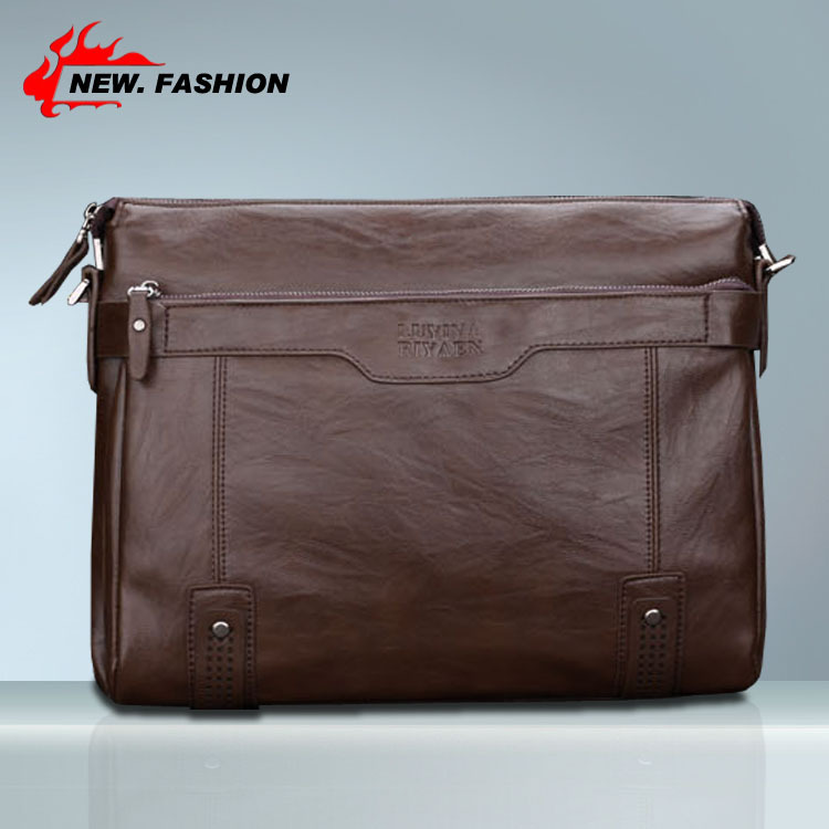 HOT SALE High Quality Retro Faux Leather Men Messenger Bags Vintage Brown Cross Body Computer Bag / Men's Business Briefcase(China (Mainland))