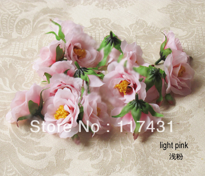 "Free shipping 100pcs High quality 5cm/1.97"" Artificial Silk Simulation Flower heads Peony Rose Camellia Decorative Flowers(China (Mainland))"