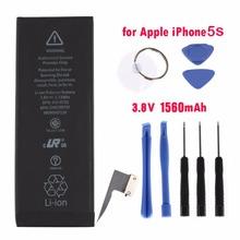 Practical Mobile Phone Internal Replacement Battery 1560MAH Capacity + Phone Repair Kit Tools For Iphone 5S/C Black(China (Mainland))