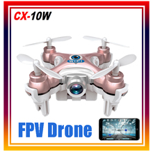 New Arrival 2.4G 4CH 6-axis Phone Control Cheerson cx-10w WIFI FPV RC Quadcopter Remote Control Drone with Camera Free Shipping