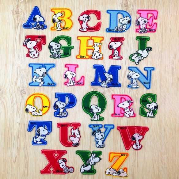 Free shipping (26pc/lot) 26 Alphabets Pattern Patches 3d embroidery patch glue applique iron applique(China (Mainland))