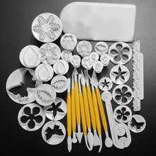High Quality DIY Fondant Cake Chocolate Sugar Tool Kit flowers printing module Kitchen pastry Decoration Mold 12 Kinds 37Pcs Hot(China (Mainland))
