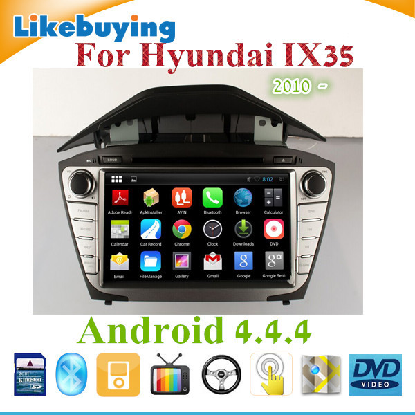 """8"""" 2 DIN Device Android 4.4.4 HD Car DVD GPS player Navigation For Hyundai IX35 2010 2011 2012 2013 2014 2015/ WIFI/Free 8G map(China (Mainland))"""