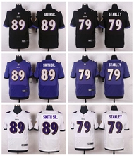 Baltimore Ravens #52 Ray Lewis #26 Matt Elam Elite White Black Alternate and Purple Team Color High quality(China (Mainland))