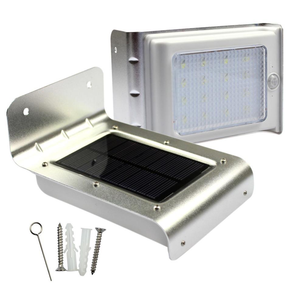 GoesWell High Quality LED Solar Light 2835 SMD 16LEDs Motion Sensor Security Waterproof Lamp Garden Wall Lighting(China (Mainland))
