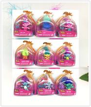 10 стили мини троллей Фильм Троллей Фигурку игрушки Мак Филиал Тварь Skitter Троллей Цифры игрушки для Детей детские Подарки(China (Mainland))