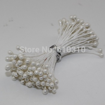 Free shipping 3mm 1800pcs/Lot Double head white color flower stamen cake decoration craft DIY