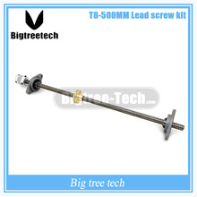 Free shipping T8 Lead screw 500 mm 8mm + brass copper nut + KFL08 bearing Bracket +Flexible Coupling for 3D printer&CNC