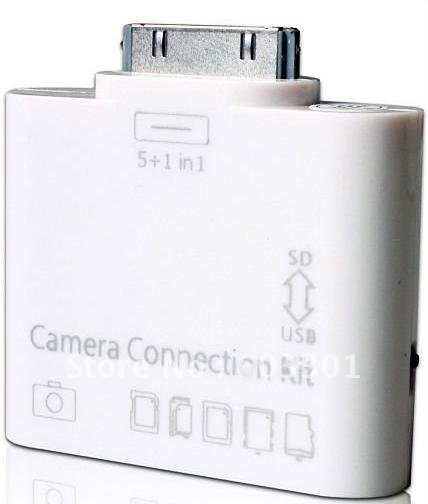 Camera Connection Kit , 5 in 1 card reader for iPad and iPad 2, wholesale(China (Mainland))