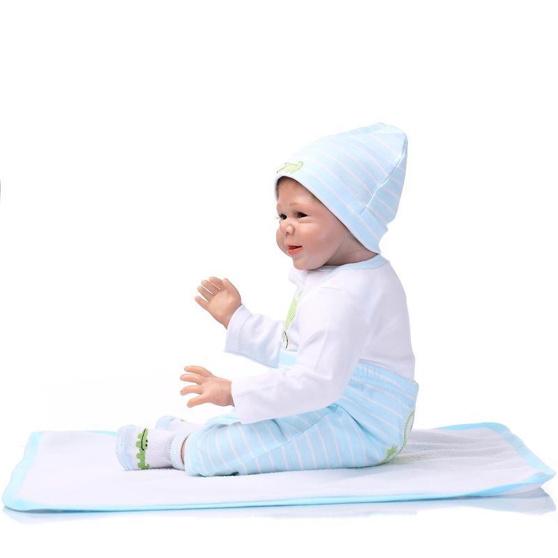 Silicone reborn child doll toys for ladies play home lifelike new child reborn boys infants birthday presnet reward collectable dolls