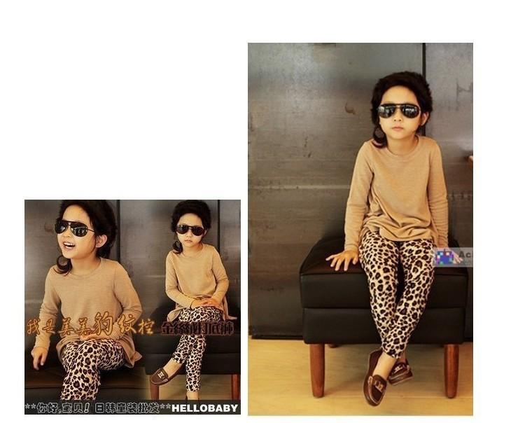 1Pcs Baby Girls' Leggings Fashion Leopard Print For 1-5yrs Children Pants Kids Fall Winter Clothing Warm Trousers fashion(China (Mainland))