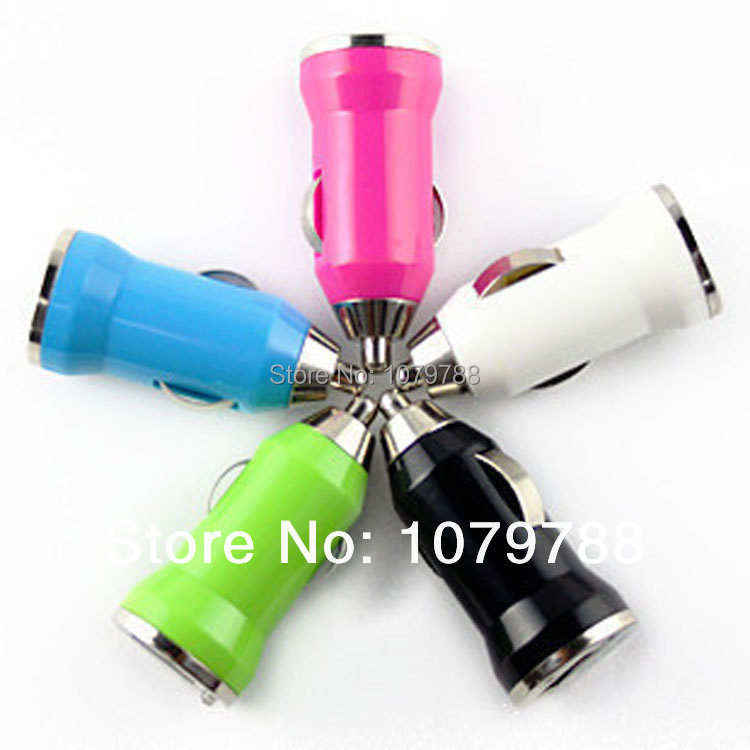 Mini USB bullet car charger cigarette lighter adapter for apple iphone 6 6plus 5 5s 5c 4s 4 ipad mini sumsung htc lenovo huawei(China (Mainland))