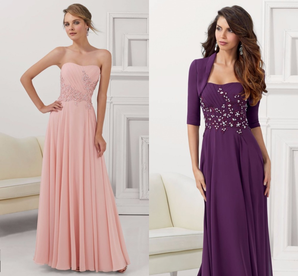 Plus size women formal evening dresses with jacket long dresses