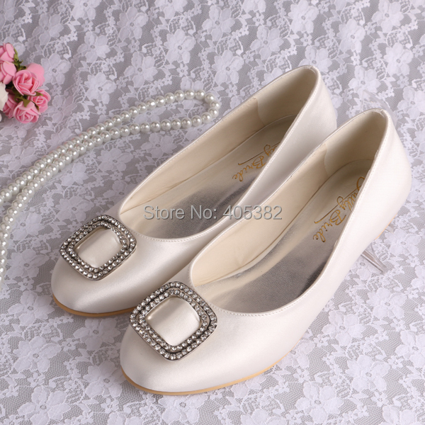 (20 Colors)Hot Selling Flat Red Pink White Ivory Bridal Shoes Wedding Crystal Women Free Shipping(China (Mainland))
