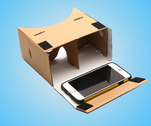 """High quality DIY Google Cardboard Virtual Reality VR Mobile Phone 3D Viewing Glasses for 5.0"""" Screen Google VR 3D Glasses(China (Mainland))"""