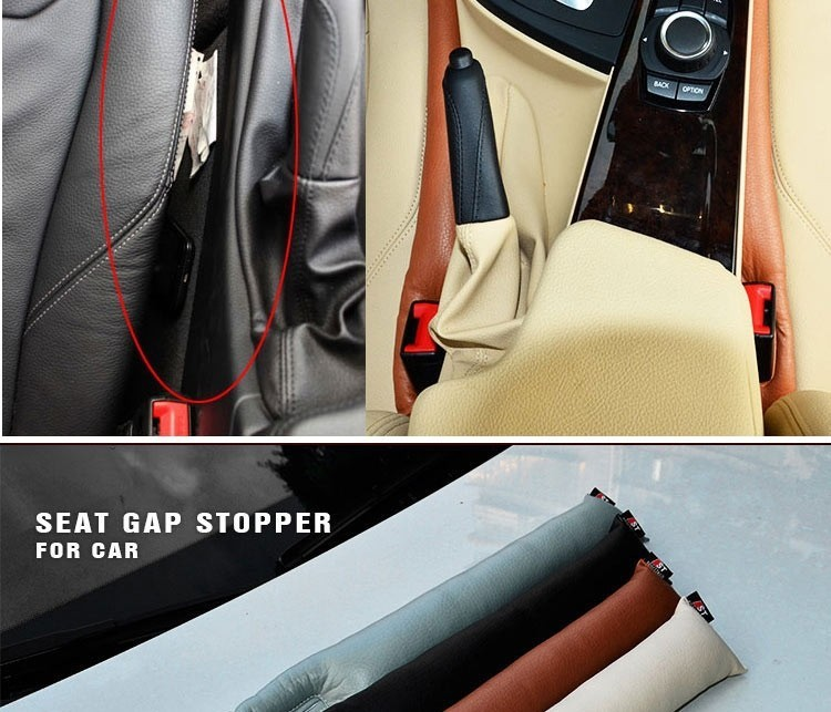 Free Shipping Car Seat Crevice Gap Stopper PU Leather Leakproof Protector car seat pad