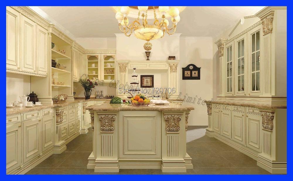 Custom modern kitchen cabinet design solid wood kitchen for Solid wood modern kitchen cabinets