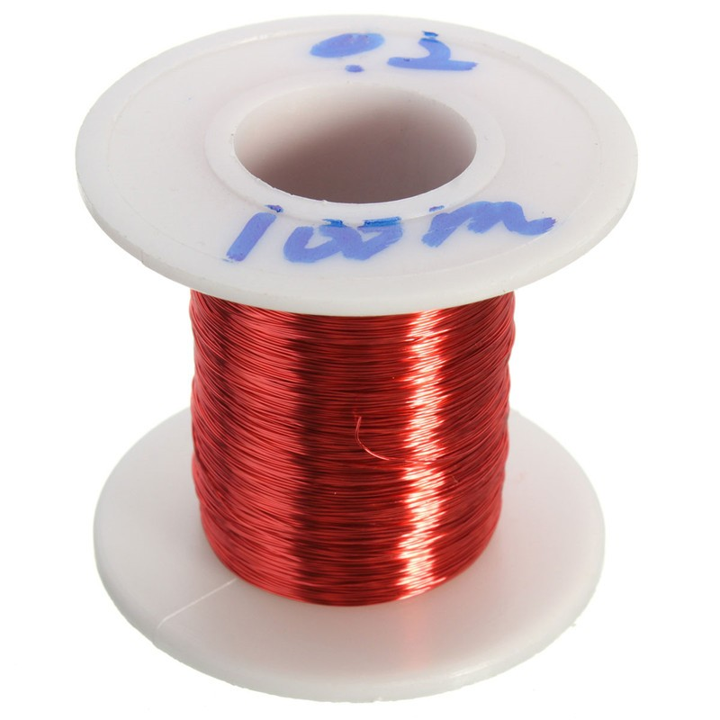 New 100m Red Magnet Wire 0.2mm Enameled Copper wire Magnetic Coil Winding Excellent Insulating Properties(China (Mainland))