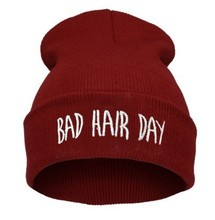 2015 Promotion Rushed Letter Adult Casual Unisex Acrylic Hats for Caps Beanies Bad Hair Day Hat