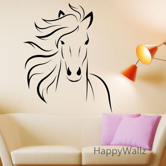 Buy horse wall stickers modern horse wall for Stickers de pared