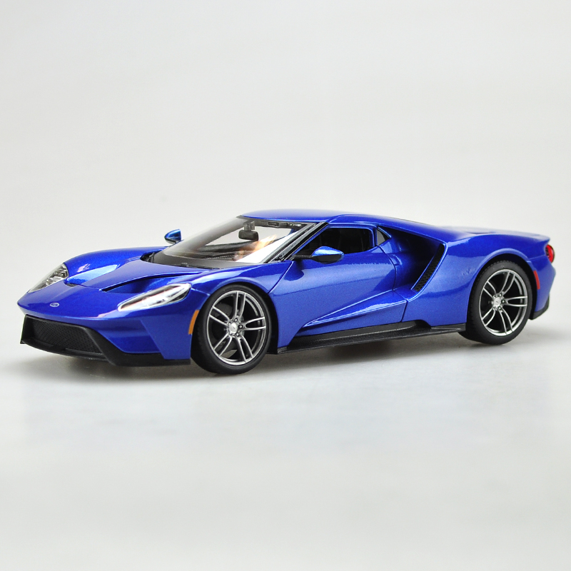 Collectible Gift Jada Car 1/18 Scale Diecast Car Model Blue Yellow Silver 2005 Ford GT MInicar Model Kids Toys Gift FreeShipping(China (Mainland))