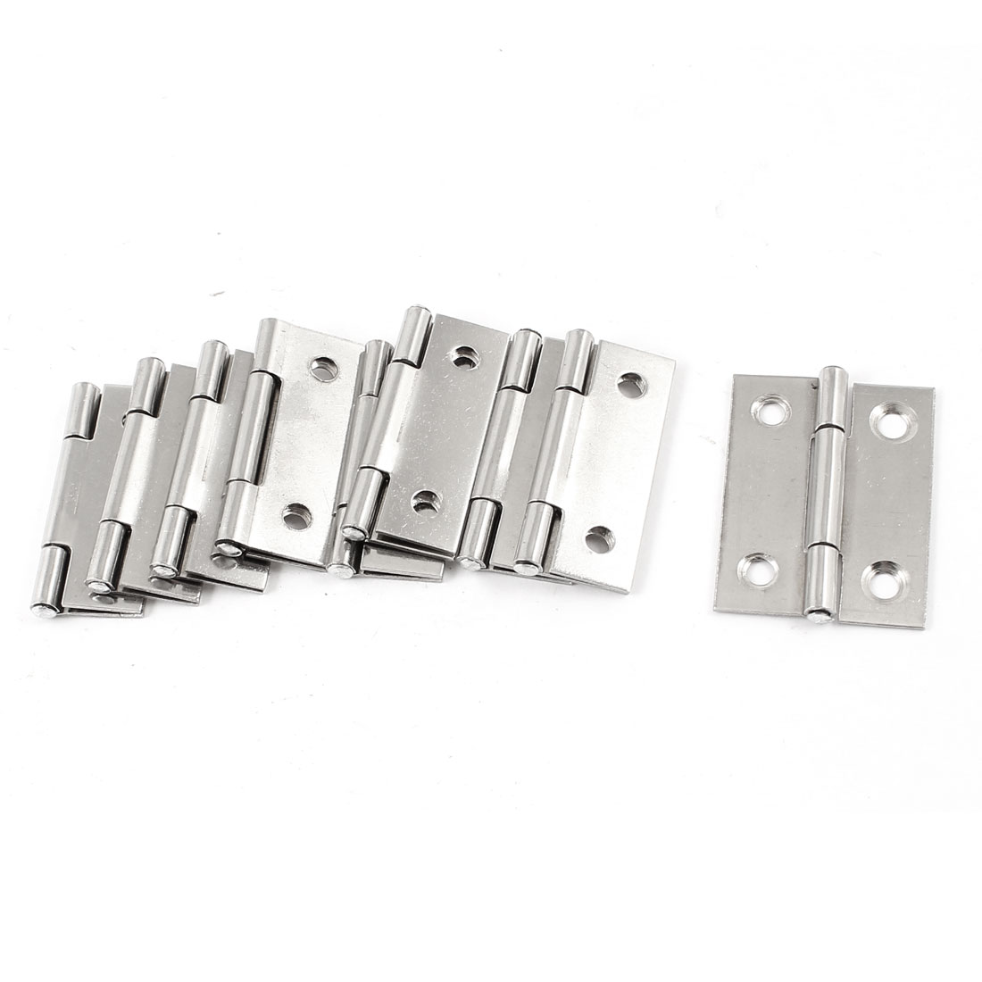 "9 Pcs Stainless Steel 4 Mounting Holes Door Hinges Replacement 1.8"" Length(China (Mainland))"