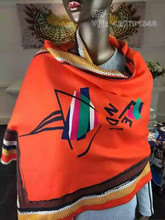 Luxury brand scarf Italy Big Size Brand Cashmere Scarves Karl Desinger wool Bandana Poncho Blanket Pashmina Shawl Winter Echarpe(China (Mainland))