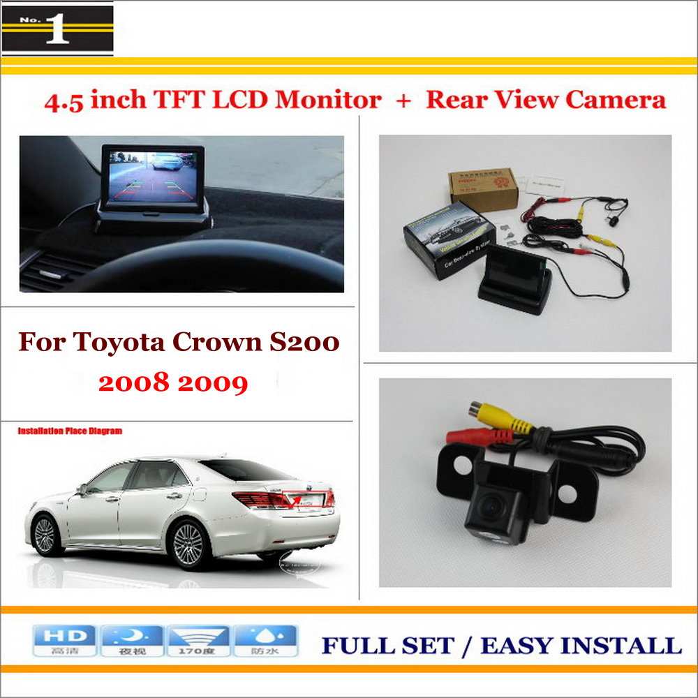"""Auto Back UP Reverse Camera + 4.3"""" Color LCD Monitor = 2 in 1 Rearview Parking System / For Toyota Crown S200 2008 2009(China (Mainland))"""