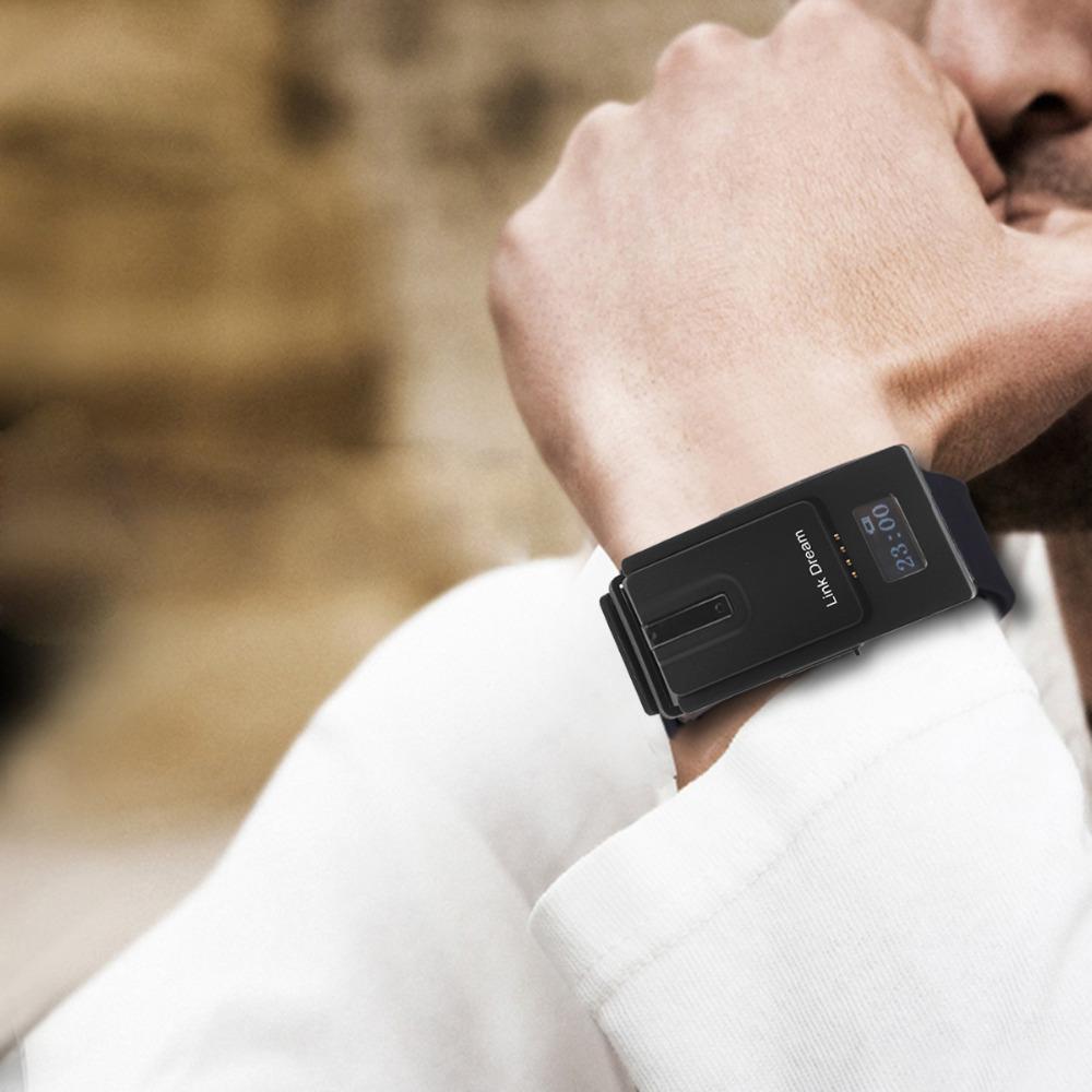 Link Dream Smartwatch Bluetooth V3 0 Headset Earphones Separate Design Sport Watch Headphones For Phone Black