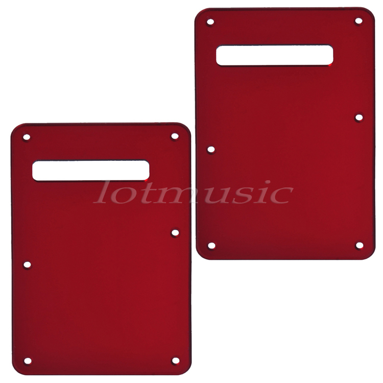 2Pcs Red Mirror Back Plate Tremolo Cavity Cover for Fender ST Strat Guitar Replacement(China (Mainland))