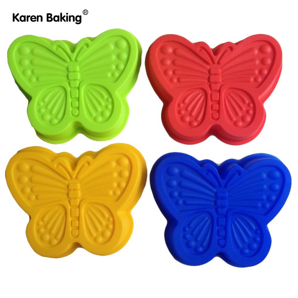 4PCS Butterfly Shape Silicone Mold Cake Mold Cake Tools Baking Tools -B078(China (Mainland))