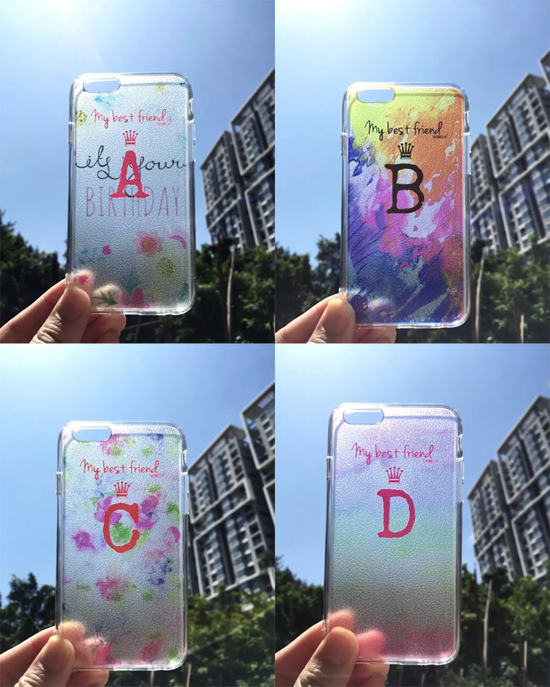 New Arrival 26 alphabets Personalized phone shell For iphone 6 Plus high quality TPU funda case for iphone 6 Plus Free Shipping(China (Mainland))