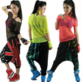 2015 New Fashion hip hop women top dance female Jazz costume performance wear stage clothing neon