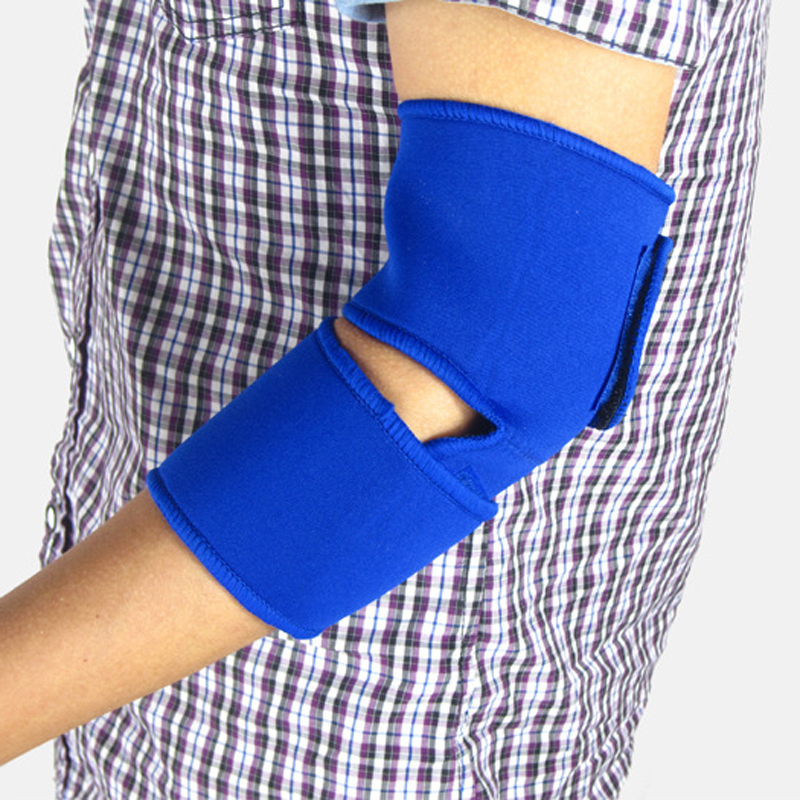 1pc Blue Elastic Elbow Pad Support Brace Basketball Sleeve Volleyball Tennis Fitness Sports Exercise Safety Protector Bandage(China (Mainland))