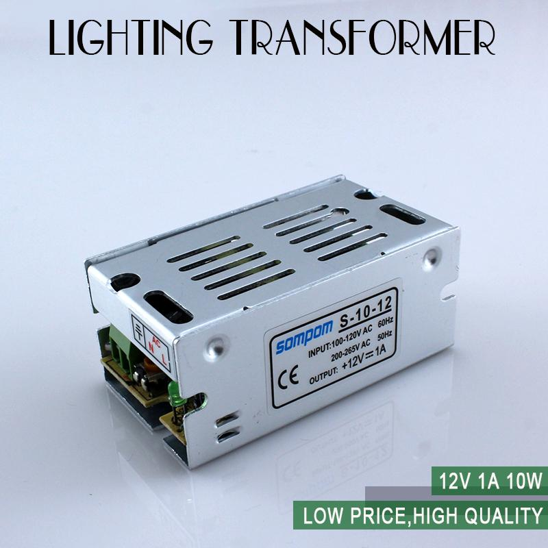 Free shipping 12W 12V 1A Switch Power Supply Switching Driver Adapter Voltage Transformer for Led Strip Light Display AC85-265V(China (Mainland))